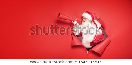 noel · baba · oturma · çatı · neşeli · Noel · mutlu - stok fotoğraf © alphaspirit