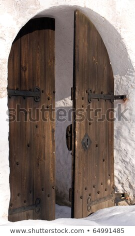 open gate winter stock photo © vividrange