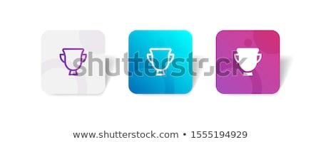 ボタン トロフィー 実例 白 背景 赤 ストックフォト © bluering