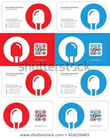 Dióda névjegy névjegyek qr kód vág kártyák Stock fotó © VadimSoloviev