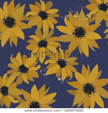 yellow decorative stylized daisy floral fall element. flower bou Stock photo © Galyna