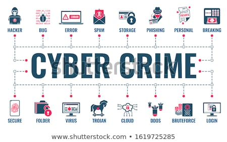 Cyber Crime hacking infographics Stock photo © -TAlex-