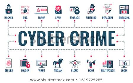suç · hacker · uçan · poster · web · sitesi · baskı - stok fotoğraf © -talex-