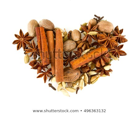 Cinnamon sticks, anise on a stone plate Stock photo © user_11224430