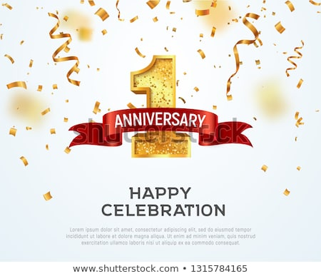 1st anniversary celebration card template Stock photo © SArts