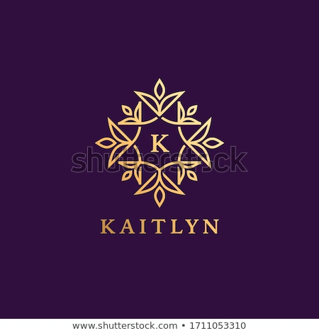 beautiful floral monogram logo for letter K Stock photo © SArts
