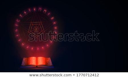 Black Book With Pentagram Stock photo © timurock