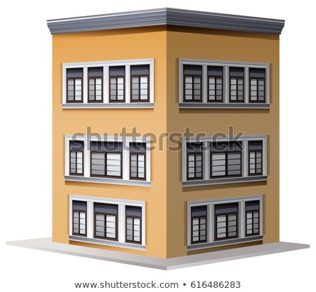3D design for three storey building Stock photo © bluering