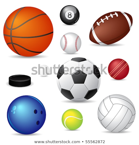 american football red soccer ball sport game stock photo © robuart