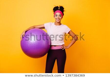 Incroyable fort sport dame permanent gymnase Photo stock © deandrobot