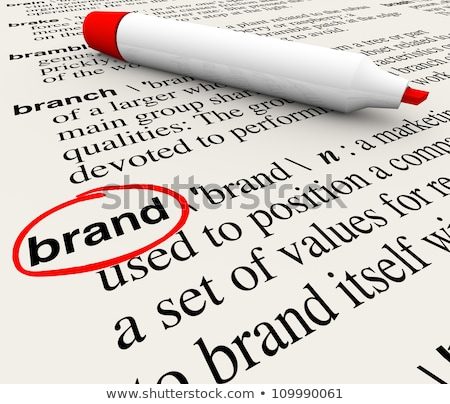 Stock photo: Brand Word Means Company Identity And Brands