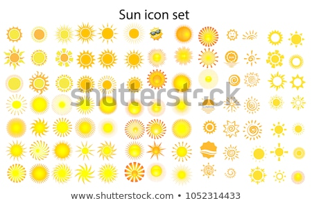 Icons suns of various shapes - vector set Stock photo © blue-pen