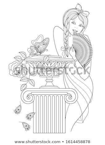 имбирь · девушки · Sweet · леденец · красочный - Сток-фото © lithian