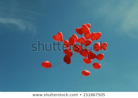 coração · balões · cerimônia · de · casamento · branco · feliz · projeto - foto stock © rastudio