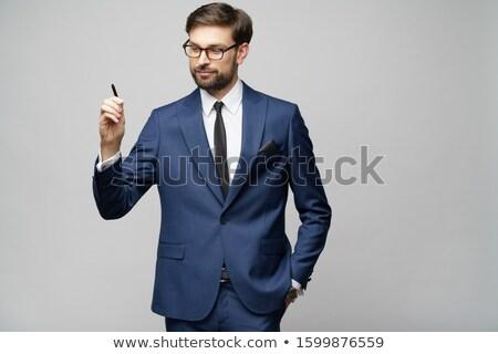 Hombre escrito invisible Screen blanco pluma Foto stock © wavebreak_media