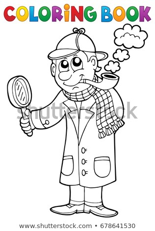 Coloring book detective theme 1 Stock photo © clairev