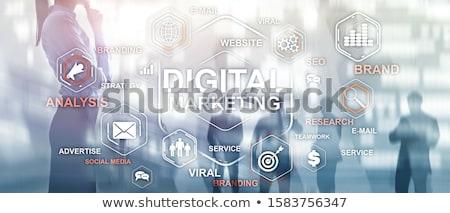bocadillo · comercialización · del · internet · palabras · blanco · Internet · diseno - foto stock © tashatuvango