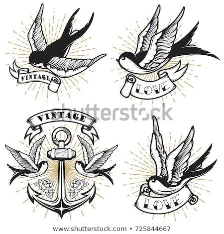 âncora vintage estilo tatuagem ilustração original Foto stock © Krisdog