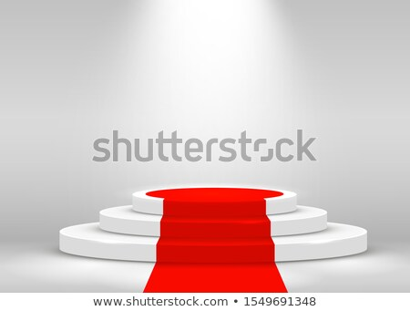 Witte podium rode loper drie rangschikken Stockfoto © Oakozhan