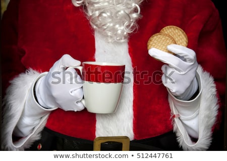 Babbo natale cookie caffè home casa lettera Foto d'archivio © wavebreak_media