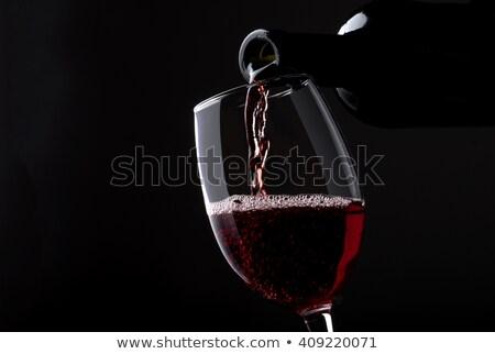 Bottiglia vino nero silhouette primo piano natura Foto d'archivio © artjazz