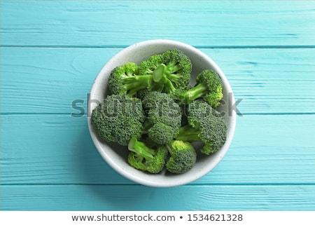 Brócolis tigela branco saúde Foto stock © Lana_M