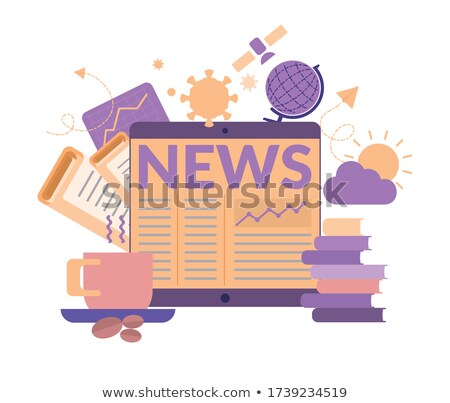 Global News - Doodle Yellow Text. Business Concept. Stock photo © tashatuvango