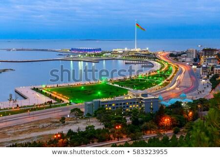 Noche vista bandera cuadrados Azerbaiyán cielo Foto stock © Elnur