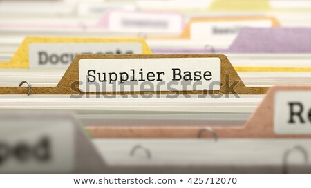 Folder in Catalog Marked as Supplier Base. Stock photo © tashatuvango