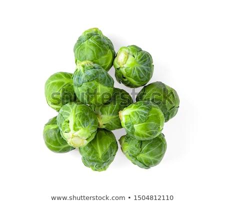 Brussel blad groene plantaardige vers maaltijd Stockfoto © yelenayemchuk