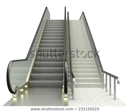 Mouvement escalator escaliers métro métro floue Photo stock © vilevi
