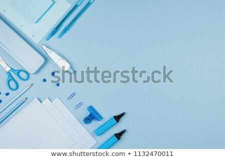 School Accessories on Blue Background Stock photo © ThreeArt