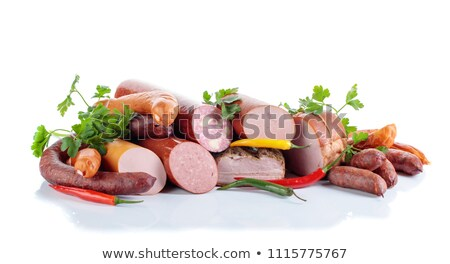 pile of sausages and bacons Stock photo © milsiart