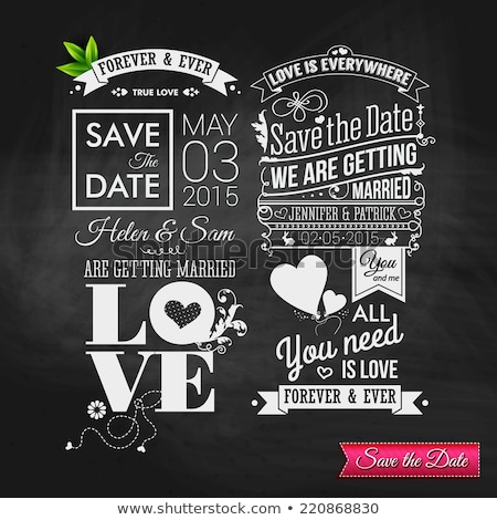 save the date wedding invitation template design with bright yel Stock photo © SArts