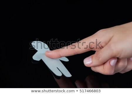 手 女性 触れる 人間 ガラス ストックフォト © wavebreak_media