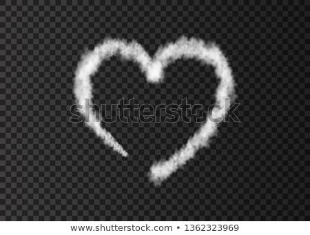 Vliegtuig liefde wolk parcours hemel miniatuur Stockfoto © unikpix