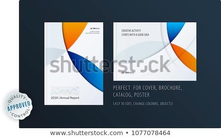 kreatív · terv · üzlet · brosúra · szett · absztrakt - stock fotó © Diamond-Graphics