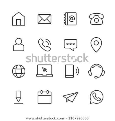 E-mail icona line stile documento file Foto d'archivio © taufik_al_amin