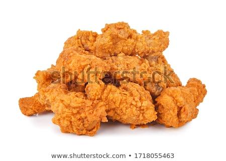 куриные крыльями жареная курица жареный блюдо Сток-фото © guillermo