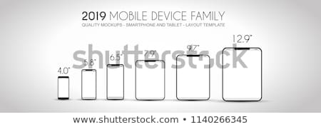 Compleet volgende generatie familie mobiele telefoons Stockfoto © DavidArts