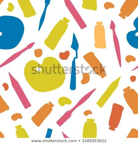 Online Courses - Doodle Illustration on Blue Chalkboard. Stock photo © tashatuvango