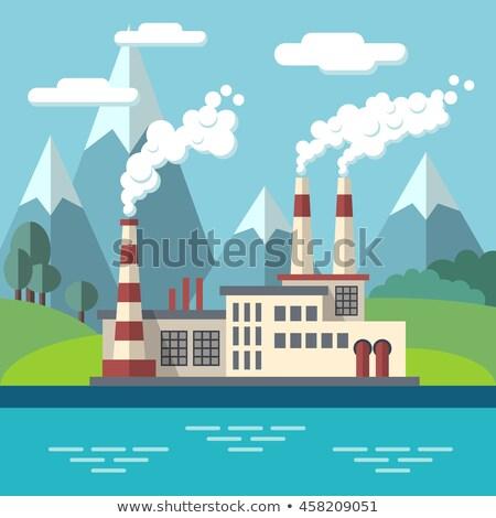 Fabrika dağ örnek vektör eps 10 Stok fotoğraf © rwgusev