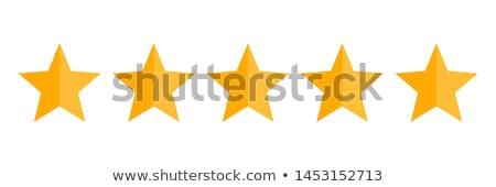 simple star rating symbol design Stock photo © SArts