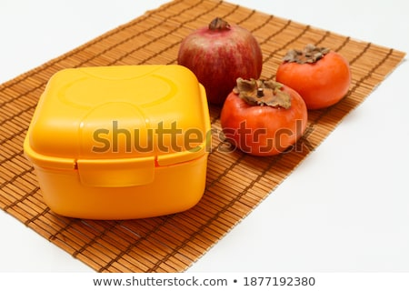 Bamboo box with fresh raw organic oranges Stock photo © DenisMArt