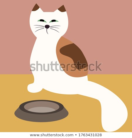 Yellow Cat Asking for Food Vector Illustration Stock photo © robuart