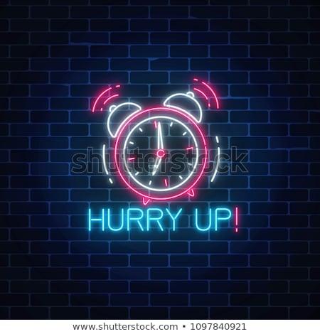 çalar · saat · ikon · telefon · dışarı · cep · telefonu · ekran - stok fotoğraf © robuart