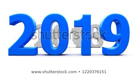 Kék jött új év renderelt kép 3d illusztráció terv Stock fotó © Oakozhan