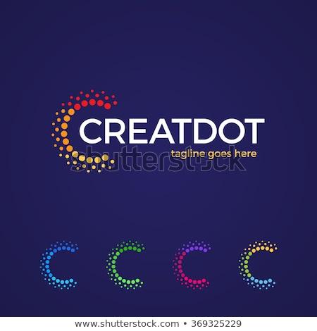 Színes logo c betű logotípus vektor felirat Stock fotó © blaskorizov