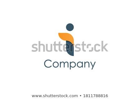 オレンジ · 青 · 手紙 · ロゴタイプ · アイコン · シンボル - ストックフォト © blaskorizov