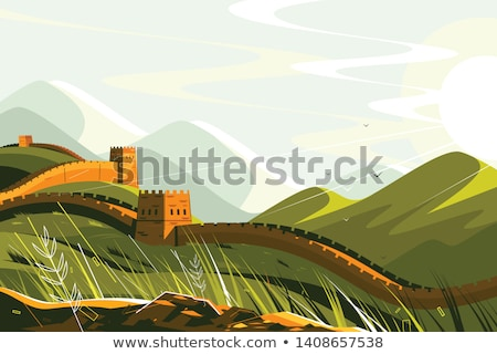 Great Wall of China landscape for travel design Stock photo © jossdiim